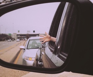 car, funny, and hand image