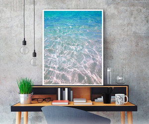 beach, turquoise water, and etsy image