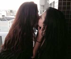 lesbian, love, and girl image