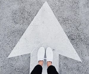 white, shoes, and arrow image