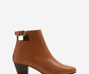 ankle boot, boot, and brown image