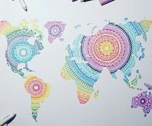 world, colors, and art image