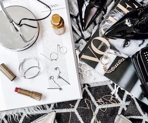 accessories, lipstick, and black image