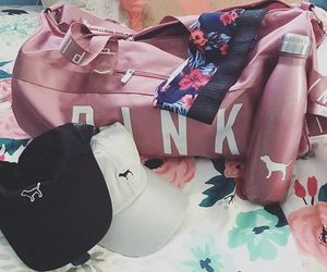 bags, fitness, and pink image