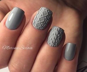 gray, jersey, and nails image