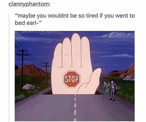 funny, stop, and bed image