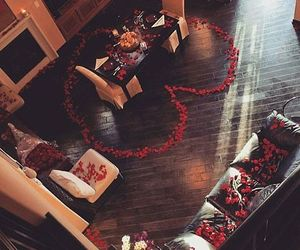 love, romantic, and roses image