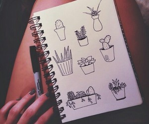aesthetic, draw, and plants image