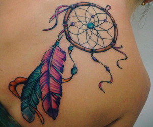 tattoo, girl, and colours image