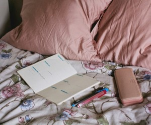 pink, bed, and tumblr image