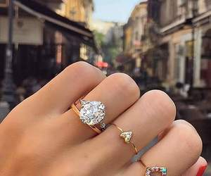 girl, rings, and accessories image