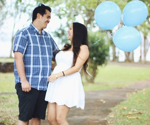 balloons, photography, and baby announcement image
