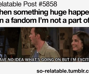 friends, excited, and fandom image
