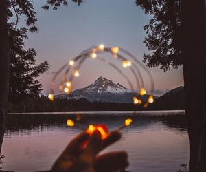 light, nature, and mountains image