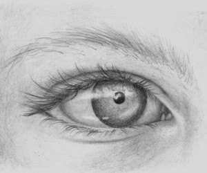 drawing, eye, and inspiration image