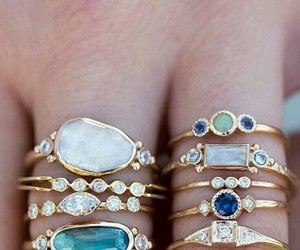 accessoires, rings, and azure image