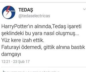 harry poter, türkçe sözler, and tedaş image