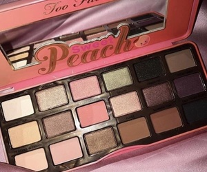 makeup, beauty, and peach image