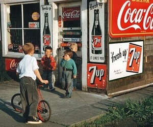 vintage, retro, and coca cola image