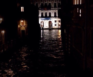 Darkness, venice, and italy image