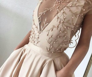 dress, long dress, and girl image