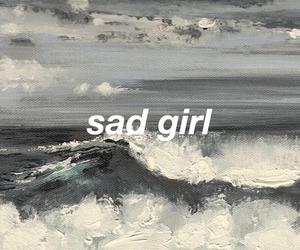 sad, art, and grey image