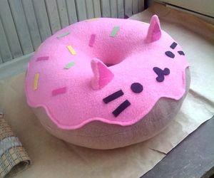 kawaii, donuts, and cat image