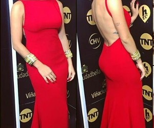 girl, red, and vestidos image