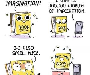 book, funny, and comic image
