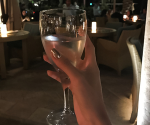nails, night, and drink image