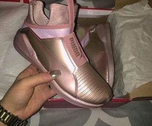 pink, kylie jenner, and puma image