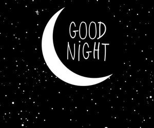 moon, good night, and night image
