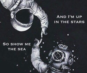 astronaut, attraction, and diving image