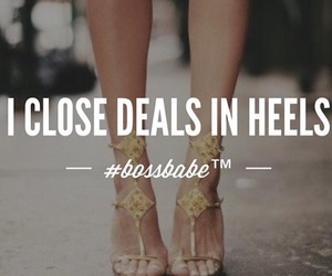 business, heels, and quotes image