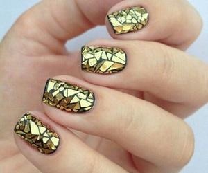 nails, nail art, and golden image