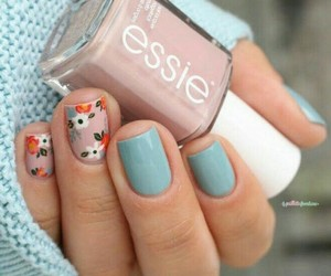 flowers, nails, and fashion image