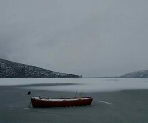 lake frozen ice cold image