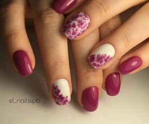 beautiful, flower, and nail art image