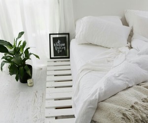bed, decor, and house image