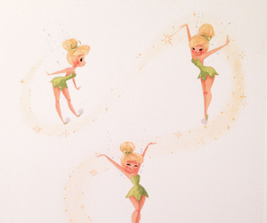 disney, pattern, and tinkerbell image