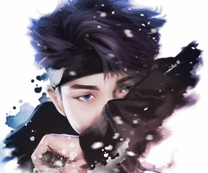 bts, rap monster, and fanart image