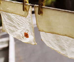 clothes line, embroidery, and vintage image
