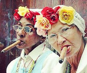 cigar, flowers, and funny image