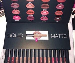lipstick, makeup, and lips image