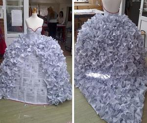 beautiful, dress, and recycled image