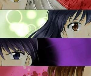 inuyasha, sango, and miroku image