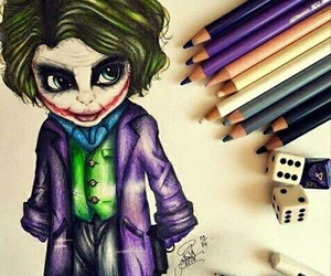 draw, joker, and art image
