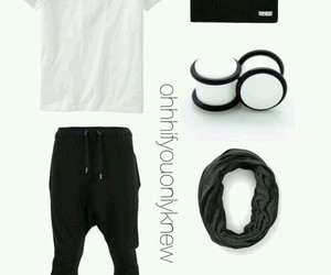 athletic, beanie, and black image