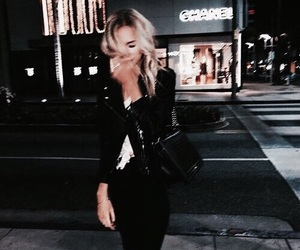 girl, fashion, and night image