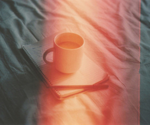 vintage, coffee, and bed image